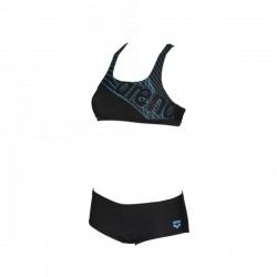 W ALTAIR TWO PIECES BLK-SEA BLUE