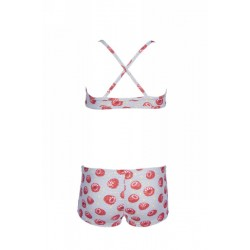 G TROPICAL SUMMER TOP WHT RED