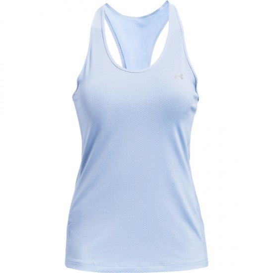 UA HG ARMOUR RACER TANK ISOTOPE BLUE/METALLIC SILVER