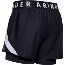 WOMEN S UA PLAY UP 2-IN-1 SHORTS BLACK