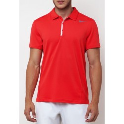 WAFFLE POLO LT CRIMSON/LT BASE GREY/COOL GREY