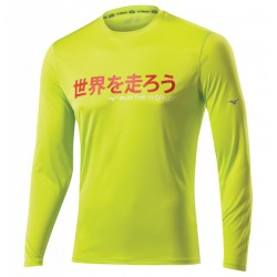 DRY LITE I RUN LS TEE LIME PUNCH