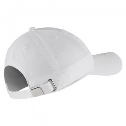 Y NK H86 CAP METAL SWOOSH WHITE/METALLIC SILVER