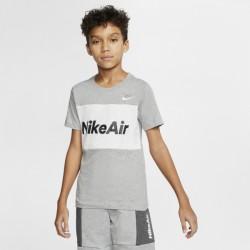 B NSW NIKE AIR TEE SS DK GREY HEATHER/WHITE