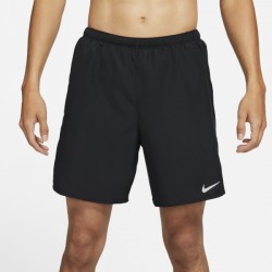 M NK DF CHALLENGER SHORT 72IN1 BLACK/REFLECTIVE SILV