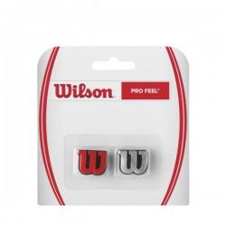 WILSON PRO FEEL DAMP SILVER/RED